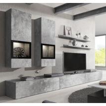 Baros nappali összeállítás világos beton