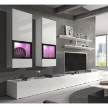 Baros nappali összeállítás fényes fehér