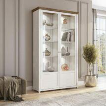 Evora vitrines szekrény 2 ajtós fehér