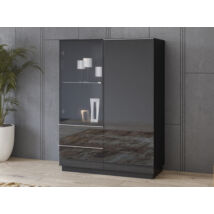 Helio szekrény 2 ajtós (1 vitrines) 2 fiókos