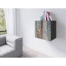 Vento faliszekrény kocka 1 ajtós festett metál