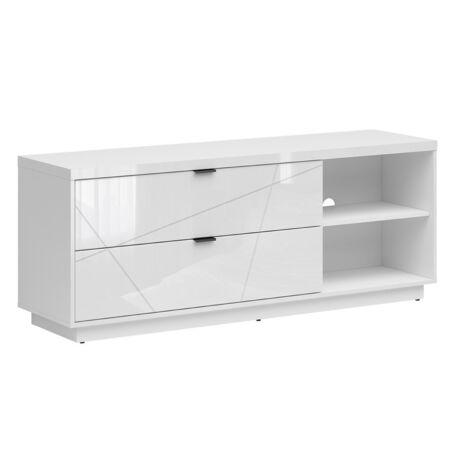 Forn TV-szekrény 2 fiókos fehér