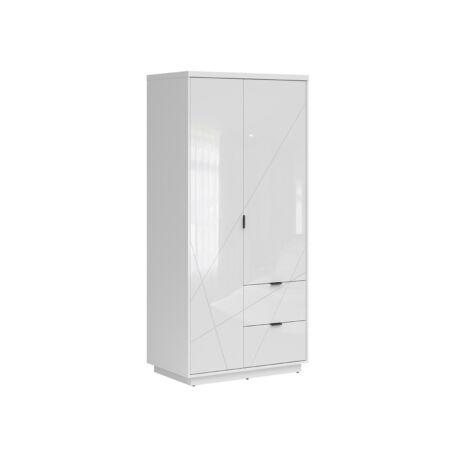 Forn szekrény 2 ajtós 2 fiókos fehér