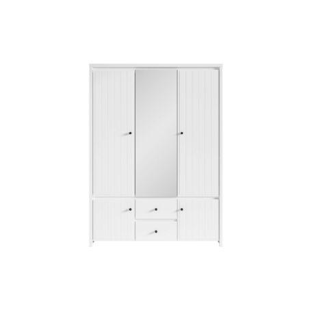 Karet szekrény 5 ajtós 2 fiókos függőlegesen mart