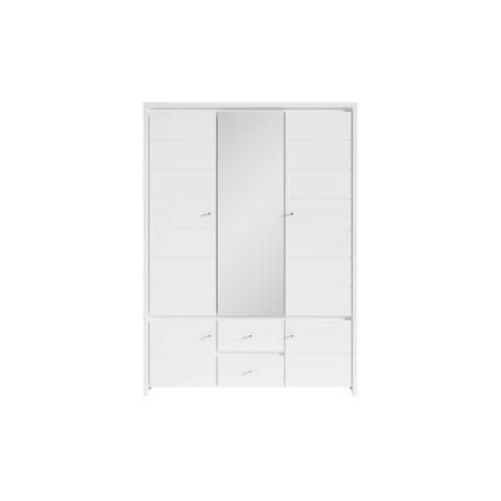 Karet szekrény 5 ajtós 2 fiókos vízszintesen mart