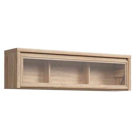 Kaspian faliszekrény vitrines, lenyíló ajtós