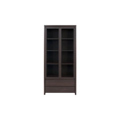 Kaspian polcos vitrin 2 ajtós (vitrines) 2 fiókos - dolgozószobába