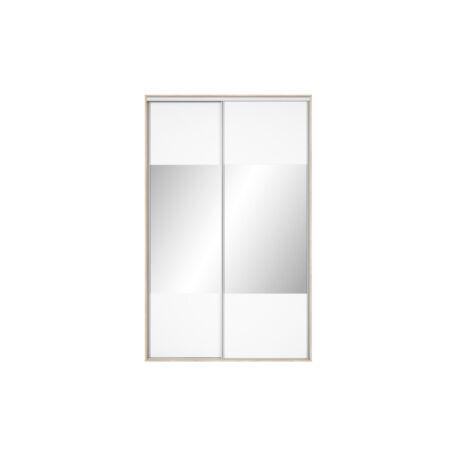 Nadir gardróbszekrény front 150/160 tükrös fehér