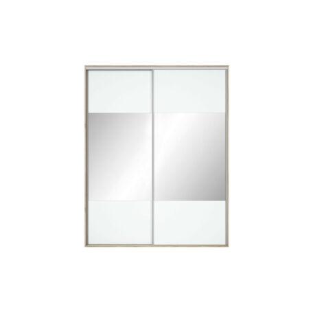 Nadir gardróbszekrény front 190/200 tükrös fehér