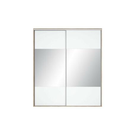 Nadir gardróbszekrény front 210/220 tükrös fehér
