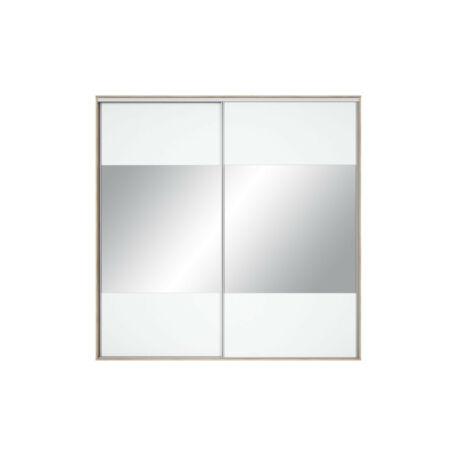 Nadir gardróbszekrény front 230/240 tükrös fehér