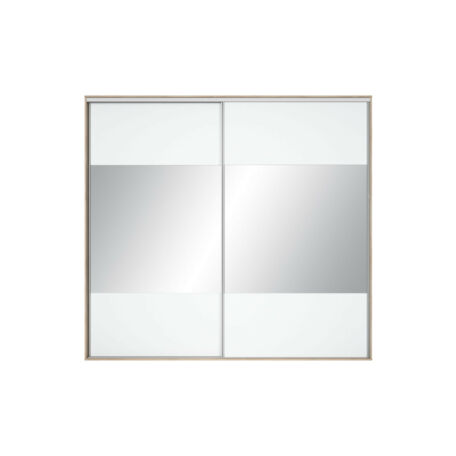Nadir gardróbszekrény front 250/260 tükrös fehér