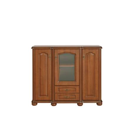 Natalia komód 3 ajtós (1 vitrines) 2 fiókos