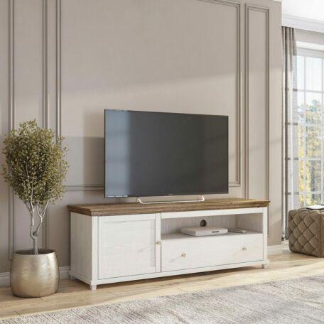 Evora TV-szekrény 1 ajtós 1 fiókos fehér