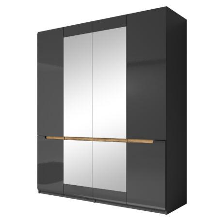 Hektor gardróbszekrény 4 ajtós 2 tükrös