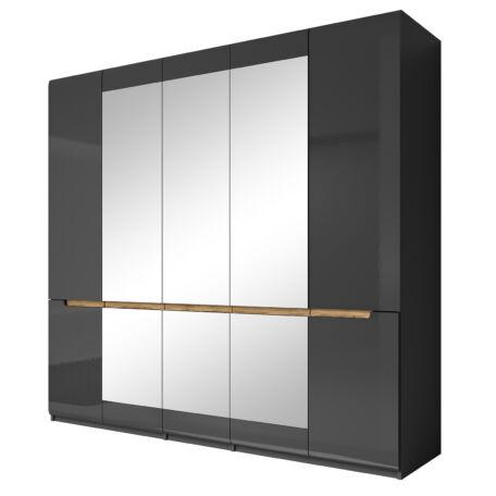 Hektor gardróbszekrény 5 ajtós 3 tükrös