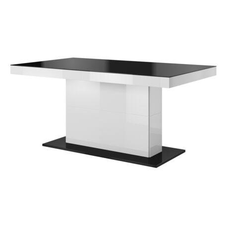Quartz asztal kinyitható fehér-fekete