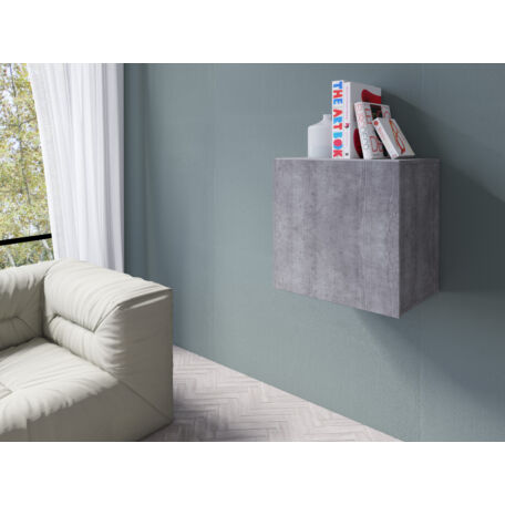 Vento faliszekrény kocka 1 ajtós beton