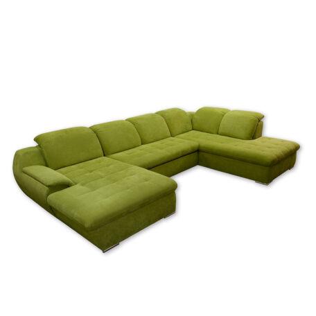 Cottbus U alakú ülőgarnitúra zöld