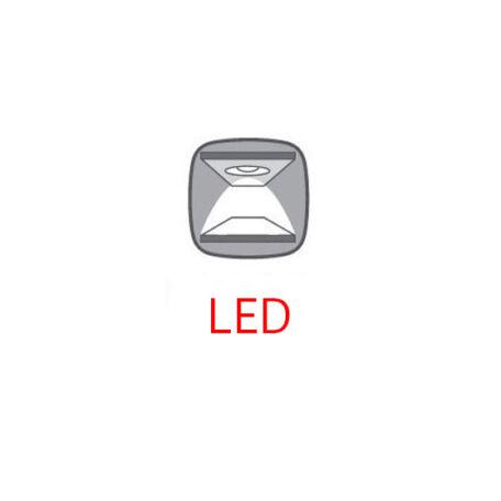 LED-világítás Kaspian 1 ajtós 2 fiókos vitrinhez