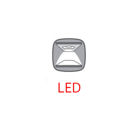 LED-világítás Patras 2 ajtós (vitrines) 4 fiókos komódhoz